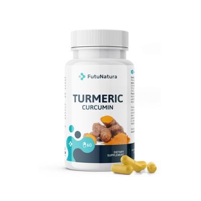Curcumin + piperin, 60 capsule