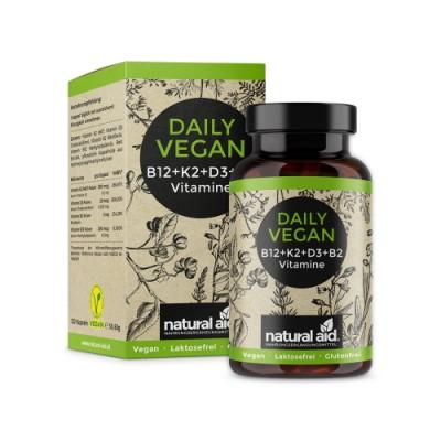 Vitamine vegane B12 + K2 + D3 + B2
