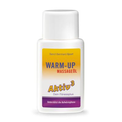 Olio da massaggio riscaldante prima dell'esercizio